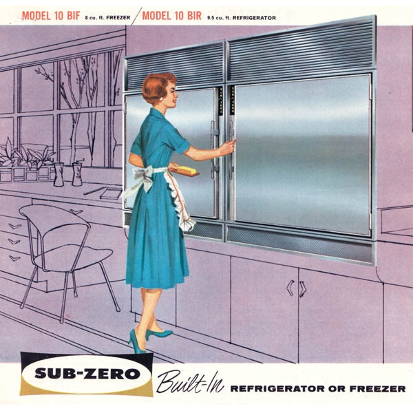 The old Sub-Zero refrigerator-a historic view.